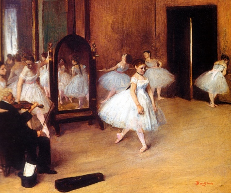 Edgar Degas - The Dancing Class, 1871 at New York Metropolitan Art Museum